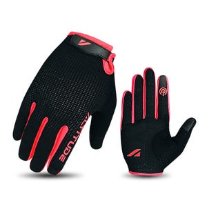 Guante Ciclismo Mujer Altitude Long Finger Touch Negro/Rosado