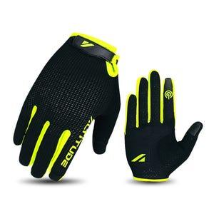 Guante Ciclismo Hombre Altitude Long Finger Touch Negro/Amarillo