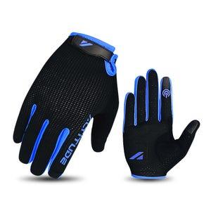 Guante Ciclismo Hombre Altitude Long Finger Touch Negro/Azul