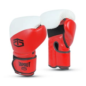Guantes Boxeo Hombre Tapout PU 12 Oz Rojo