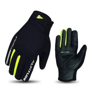 Guante Ciclismo Invierno Hombre Altitude Sistema Touch Negro/Amarillo