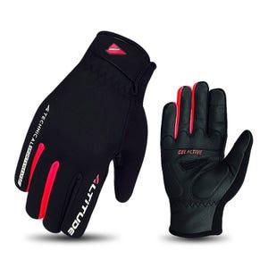 Guante Ciclismo Invierno Mujer Altitude Sistema Touch Negro/Sandía