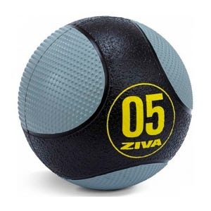 Balón Medicinal Ziva Texturizado 3 Kg Negro/Gris