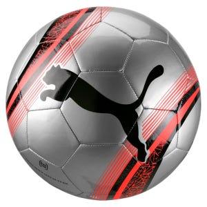 Balón fútbol Puma Big cat 3 N°5 Plata/Rojo/Negro