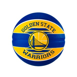 Balón Básquetbol Spalding NBA Teams Warriors Azul/Amarillo