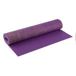Mat Yoga PVC Jute Blu Fit Púrpura