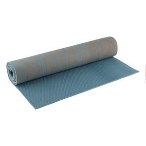Mat Yoga PVC Jute Blu Fit Azul