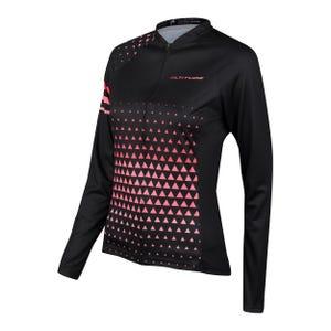 Tricota Ciclismo Mujer Altitude Negra/Rosada