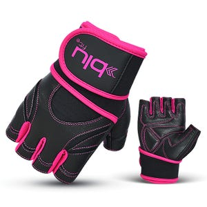 Guantes Fitness Mujer Blu Fit Negro