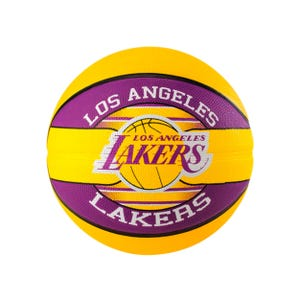 Balón Básquetbol Spalding Teams Lakers Amarillo/Morado