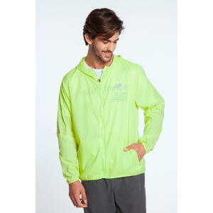 Cortaviento Running  Hombre New Balance Accelerate Empacable Amarillo