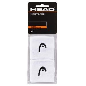 Muñequera para sudor Tenis Unisex Head 2,5'' Blanco