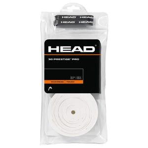 Grips Adhesivos 30 Piezas Tenis Head Prestige Pro Blanco