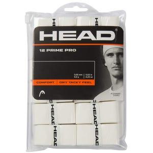 Pack Grips Tenis Head Prime Pro 12 pcs Pack (Overgrip) Blanco