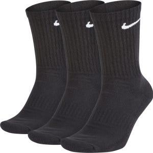 Calcetines Training Unisex Nike Everyday Cush Crew 3 Pares Negro
