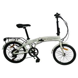Bicicleta Eléctrica Plegable Hiland Blanca