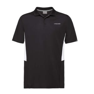 Polera Tenis Hombre Head Club Tech Polo Negra