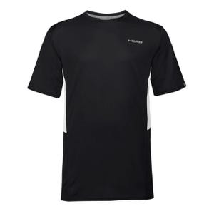 Polera Tenis Hombre Head Club Tech Negra