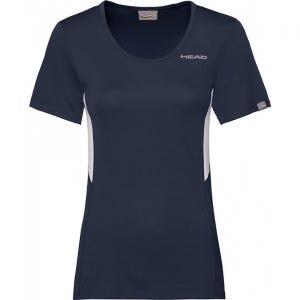 Polera Tenis Mujer Head Club Tech Azul