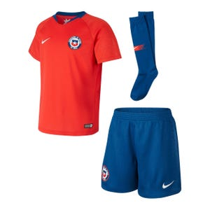 Conjunto Local Chile Niño Nike 2018 Rojo/Azul