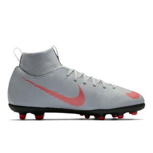Zapatos Fútbol Niño Nike Mercurial Superfly 6 Club FG/MG Gris