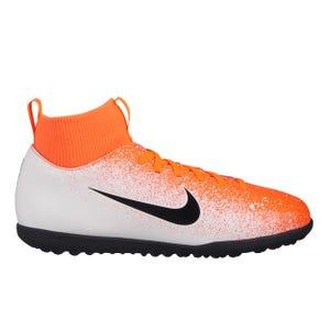 Zapatillas Futbolito Niño Nike Superfly 6 TF Blanca/Naranja