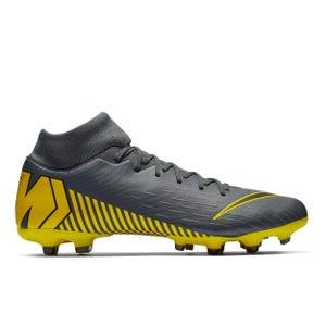Zapatos Fútbol Hombre Nike Mercurial Superfly 6 Academy MG Gris Oscuro/Amarillo