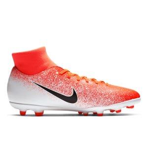 Zapatos Fútbol Nike Hombre Superfly 6 Club FG/MG Blanca/Naranja