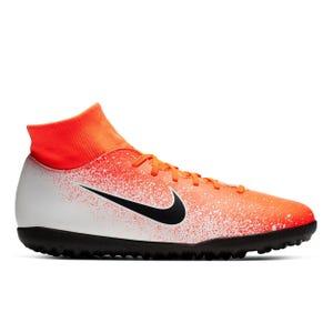 Zapatillas Futbolito Hombre Nike Superfly 6 Club TF Blanca/Naranja