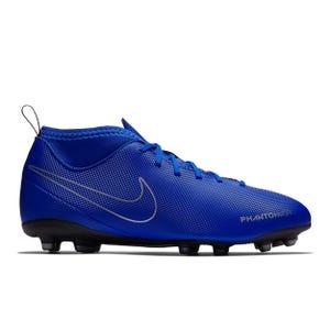 Zapatos Fútbol Niño Nike Phantom Vision Pro Dynamic Fit Azul/Plata
