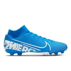 Zapatos Fútbol Hombre Nike Mercurial Superfly 7 Academy MG Celeste/Blanco