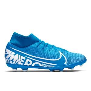 Zapatos Fútbol Hombre Nike Mercurial Superfly 7 Club MG Celeste/Blanco