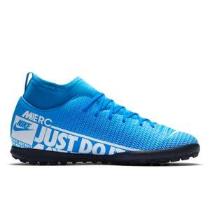 Zapatillas Futbolito Niño Nike Mercurial Superfly 7 Club TF Celeste/Blanca