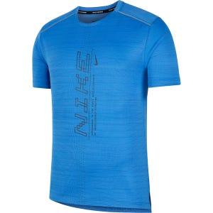 Polera Running Hombre Nike Dry-fit Miller SS Azul