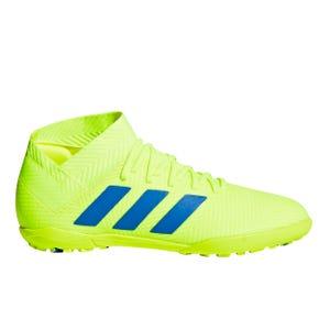 Zapatillas Futbolito Niño Adidas Nemeziz 18.3 TF Amarilla/Azul
