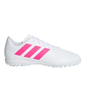 Zapatillas Futbolito Adidas Nemeziz Tango 18.4 TF Blanca/Rosada
