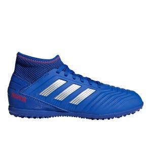 Zapatillas Futbolito Niño Adidas Predator 19.3 TF Azul/Plata