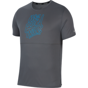 Polera Running Hombre Nike Wild Run Gris