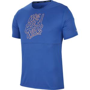 Polera Running Hombre Nike Wild Run Azul