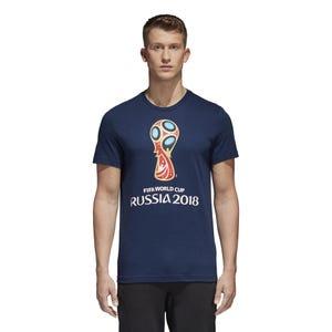 Polera Fútbol Hombre Adidas Mundial Rusia WC Emblem Azul Marino