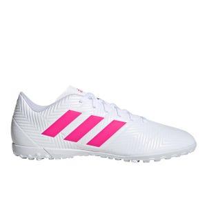 Zapatillas Futbolito Adidas Nemeziz 18.4 TF Blanca/Fucsia