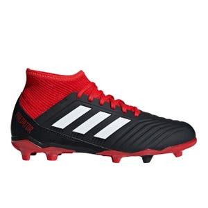 Zapatos Fútbol Niño Adidas Predator 18.3 FG Negra/Roja