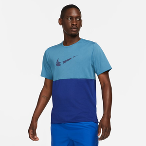 Polera Running Hombre Nike Dri-FIT Run Wild Celeste