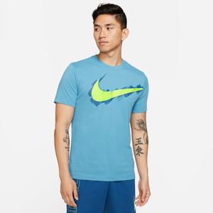 Polera Entrenamiento Hombre Nike Nike Dri-FIT Sport Clash Celeste