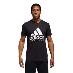 Polera Básquetbol Hombre Adidas Negra