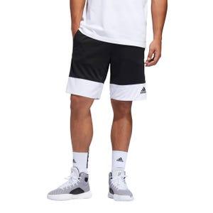 Short Básquetbol Hombre Adidas Pro Madness Negro/Blanco