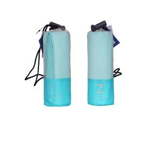 Toalla Zvibes Microfibra Melange Mediana Azul