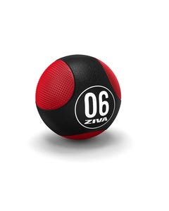 Balón Medicinal Ziva Doble Textura 8 Kg Negro/Rojo