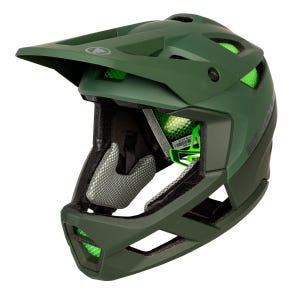Casco Integral Ciclismo Unisex Endura MT500 Full Face Verde