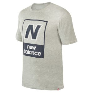 Polera Hombre New Balance Essentials N Box Tee Gris